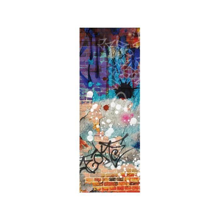 Papier Peint Le Unique Graffiti Multicolore Achat Vente Papier