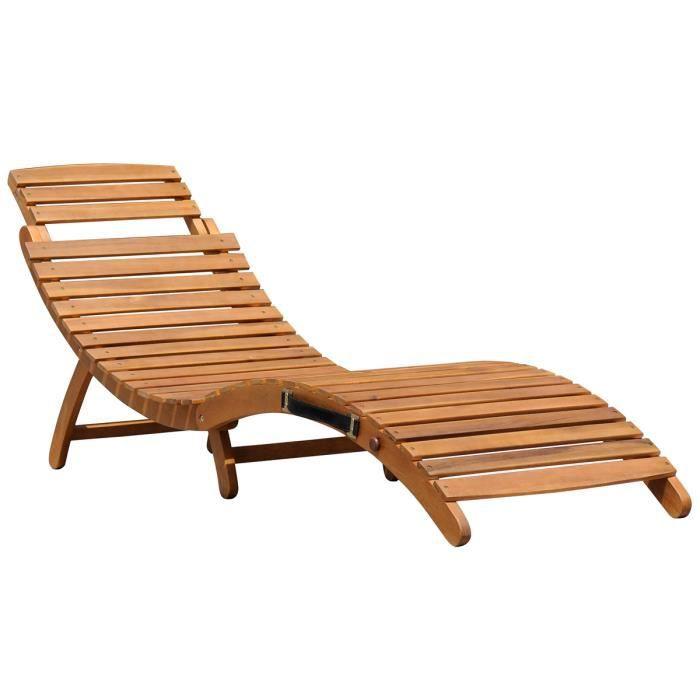Transat bain de soleil en bois achat vente transat for Transat en bois pliable