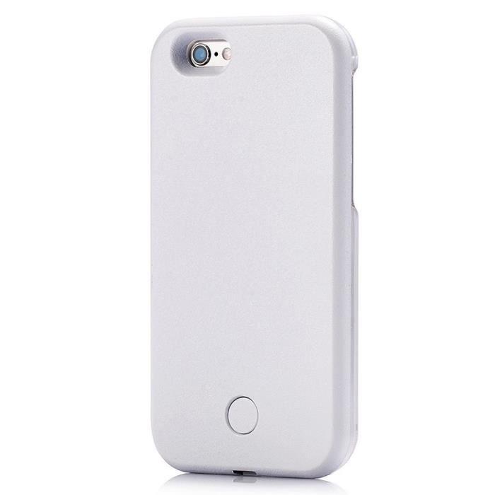 Plus 7 Avec Lampe Etui Blanc Led Selfie Pour Protection Coque L'iphone Photo MzpSUV