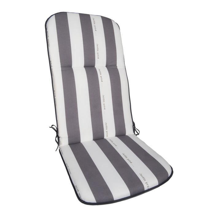 JARDIN PRIVE coussin pour fauteuil multipositions CANCALE Gris