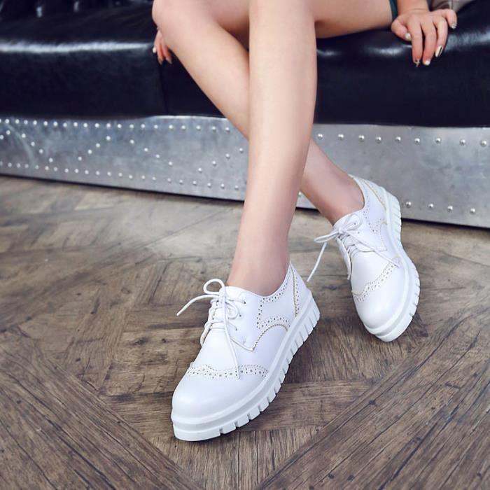 baskets-Femmes de couleur pure des Sneakers Tal...