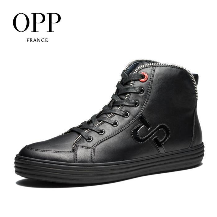 OPP Hommes Cuir Chaussures Botte OC173152noir45