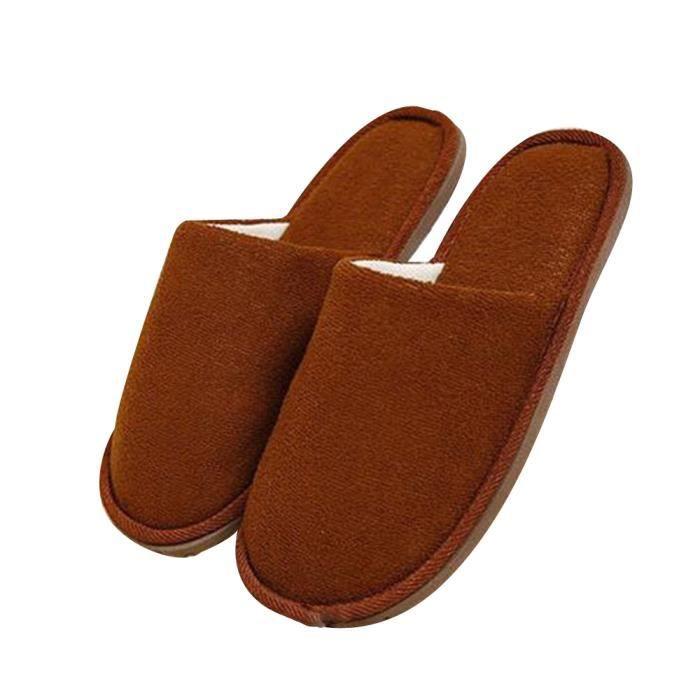 Chaussure Homme Hiver Meilleure Qualité Mode Classique Chaud Intérieur Étage Pantoufles Cotton Slipper Ultra Confortable gris 45 G1jDmAmPr