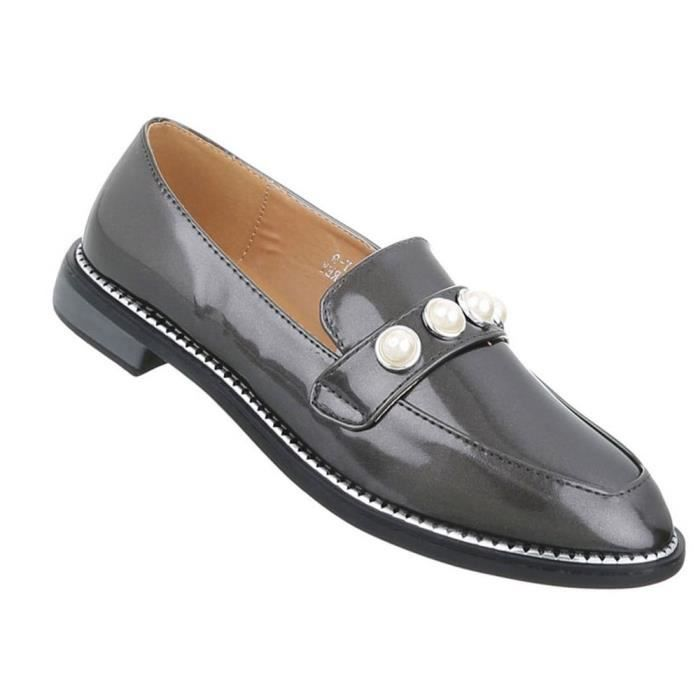 Chaussures femmes flâneurs babouche gris 41