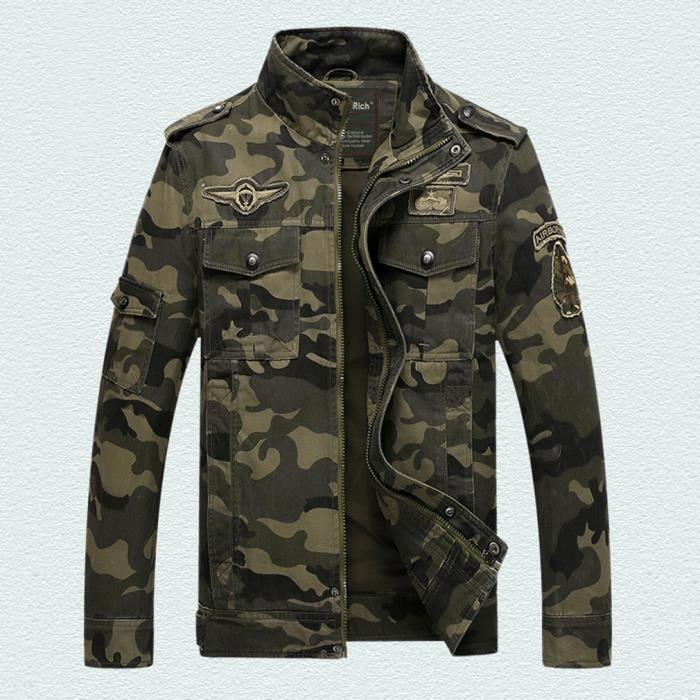 Manteau De Blouson Col Veste Debout Homme Pardessus Camouflage Mode iTXPZkOu