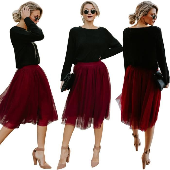 Solide Haute Femmes Mode Taille Jupe Couleur aqAaWZUwy