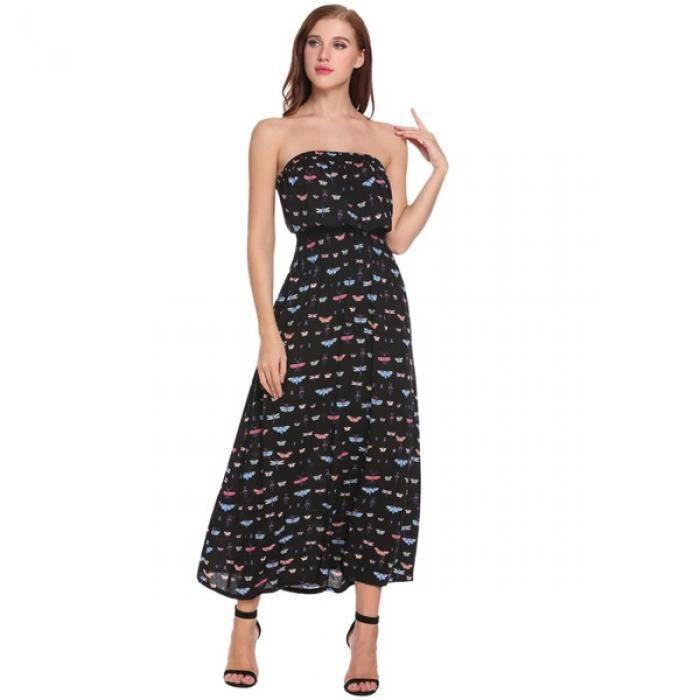 robe Long femmes Sans bretelles