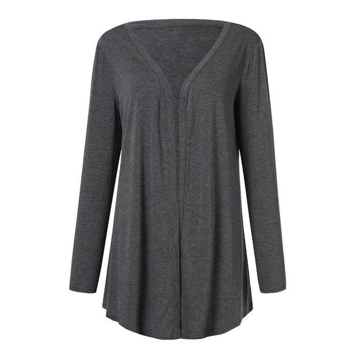 Manteau Ouvert Plus Avant Longues Pure Outwear Color Manches Casual Fit Pageare7788 Femmes Size v5B1q6wa