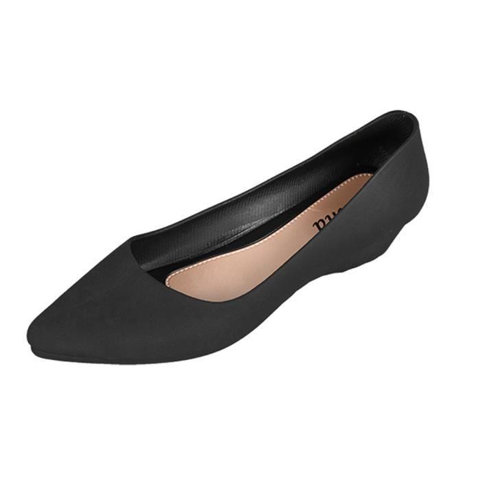 Mode Mocassins Pour Femmes Casual Wedges Noir WSZapPF