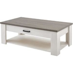 TABLE BASSE MARQUIS Table basse style contemporain décor pin e