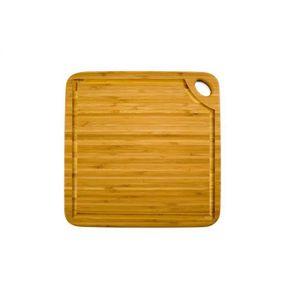 TOTALLY BAMBOO GREENLITE Planche ? découper carrée avec rigole BA202252 27,5x27,5 cm beige