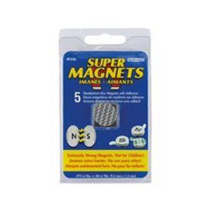 AIMANTS - MAGNETS Set de 5 aimants Néodyme adhésifs - 19,1 x 1,5 mm