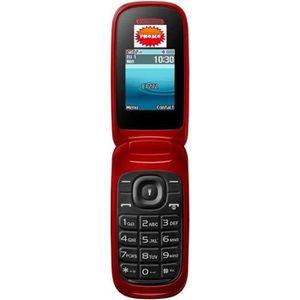 Téléphone portable TELEPHONE MOBILE A CLAPET DUALSIM RED MEGA PROMO
