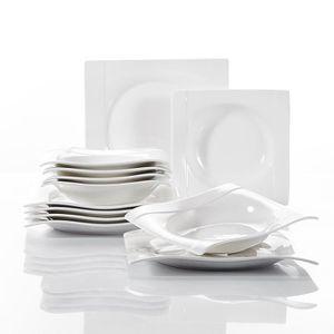 ASSIETTE Vancasso AURORA 12pcs Assiettes Porcelaine 6pcs 26