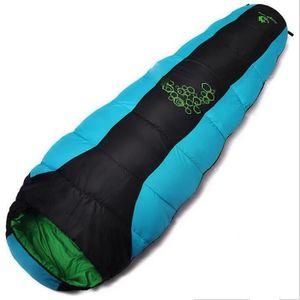 SAC DE COUCHAGE ss-33-Bleu,1.2kg sac de couchage de camping en ple