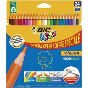 Stylo - Parure BIC® - Crayons de couleur BIC® Kids Evolution® x24