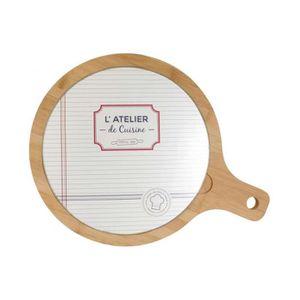 PLANCHE A DÉCOUPER planche à découper ronde en bois et verre kurt dec