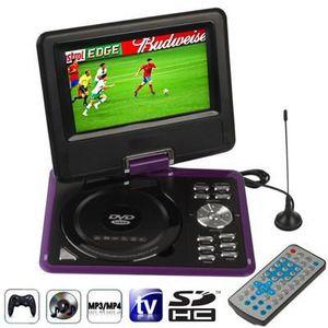 LECTEUR DVD PORTABLE DVD Portable TV 7.5p LCD SD/USB Fonction console