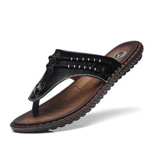 Simple d'été évider Chaussures Sandales en cuir véritable pour homme 5bbuYXvol