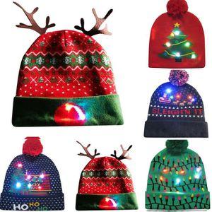 7275a4c2cd70d CHAPEAU - BOB Joyeux Noël coloré LED Light-up Bonnet Bonnet Hair