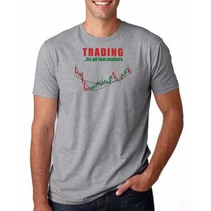 T-SHIRT Hommes O-cou Action Stock Trading Tee Shirt Invest