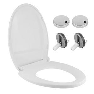 ABATTANT WC Forme-V Abattant WC taupe Accessoires de salle de
