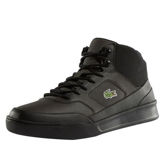Lacoste Homme Chaussures   Baskets Explorateur Sport Mid 417 II Cam Noir  Noir - Achat   Vente basket - Cdiscount c95d2f3cc824