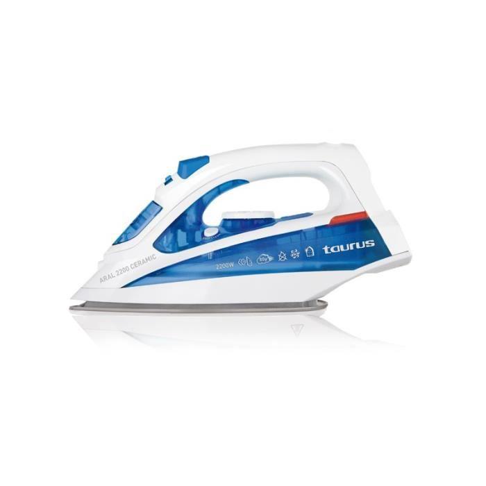 TAURUS 918628000 Fer à repasser Aral ceramic - 2200 W - Bleu et Blanc