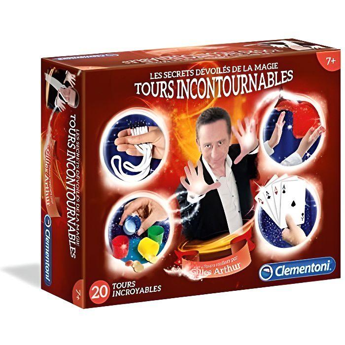 CLEMENTONI - Jeu de Magie - Les Secrets Dévoilés de la Magie - Tours Incontournables - 20 tours incroyables et incontournables à réaliser facilement à l'aide de composants de qualité - Mixte - A partir de 7 ans - Livré à l'unitéJEU DE MAGIE - KIT MAGIE