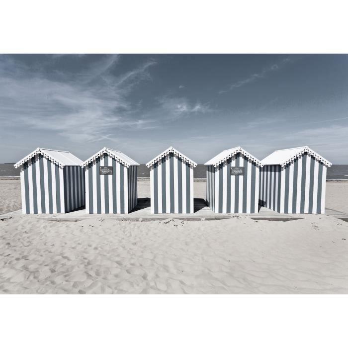 IMAGINE Toile imprimée Cabanes 45 x 65 cm