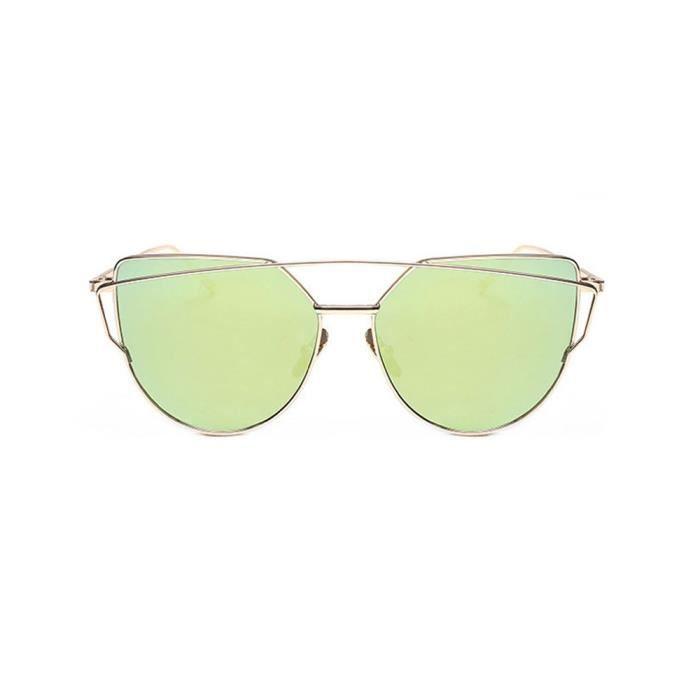 LJL70509131D@Fashion Twin-Beams Classic Women Lunettes de lunette en miroir en métal