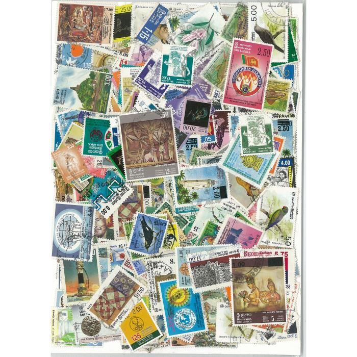 TIMBRE Ceylan/Sri Lanka -  300 timbres collection diff…