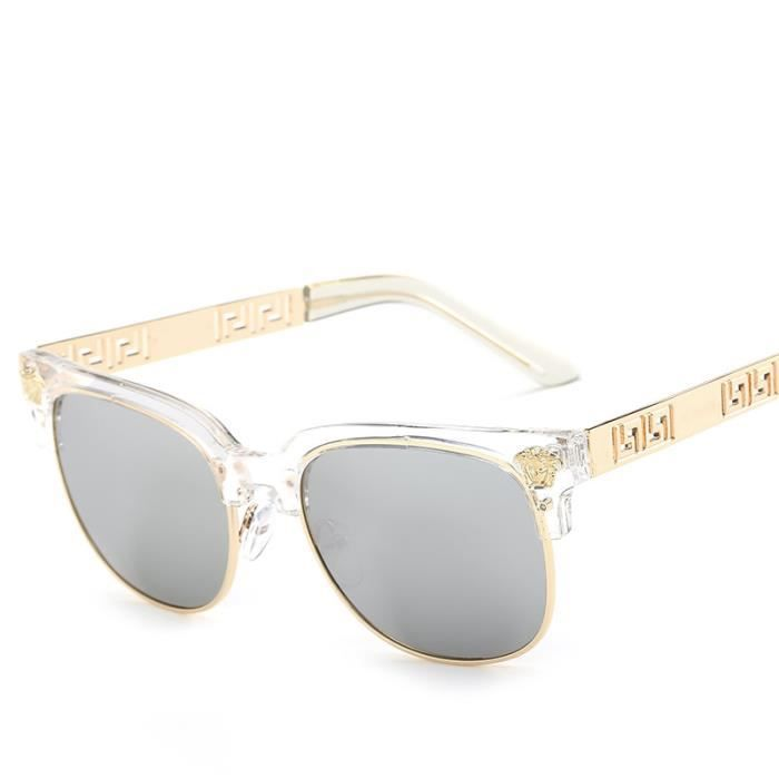 Les hommes et les femmes avec la tendance du même paragraphe tête lunettes  de soleil rétro f97480e45440