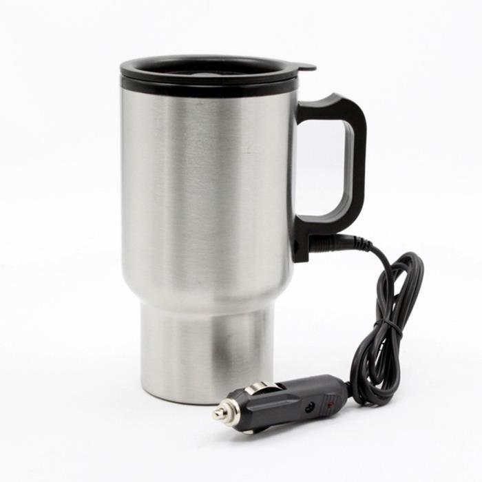 chauff e mug thermos pour porte gobelet de voiture en. Black Bedroom Furniture Sets. Home Design Ideas