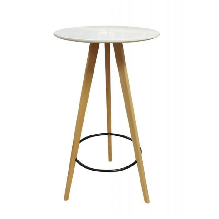TABLE BASSE TABLE haute ronde 60 cm - STOOLY