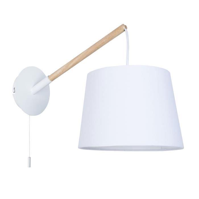 Applique style scandinave E14 40W blanc mat - Achat / Vente Applique ...