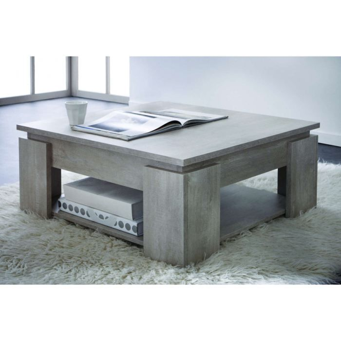 Table Basse Carre 80 X 80 Cm Achat Vente Table Basse Table Basse