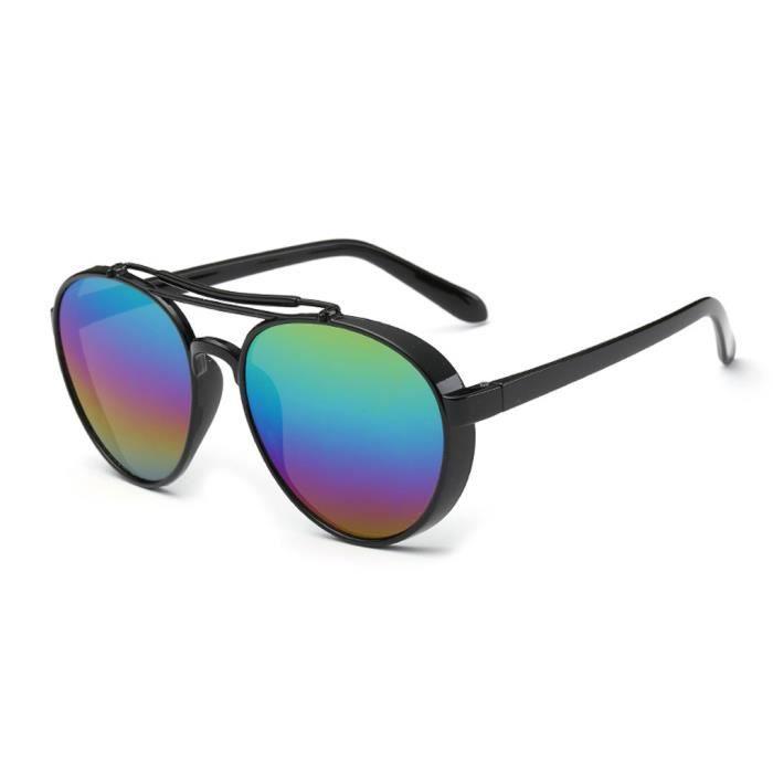 Mode cadre coloré Lunettes de soleil PC Film couleur UV400 Sun Lunettes