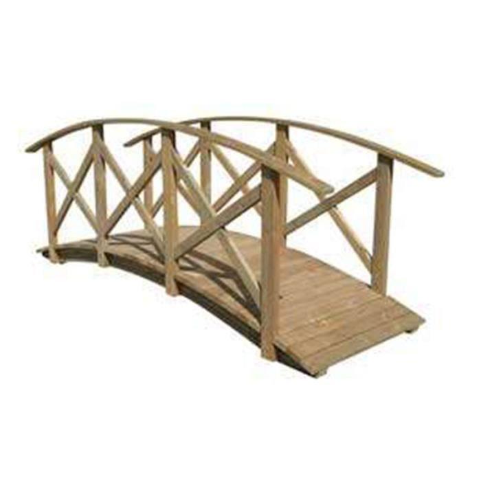 Pont en bois 520 cm isis achat vente pont pont en bois for Pont bois jardin castorama