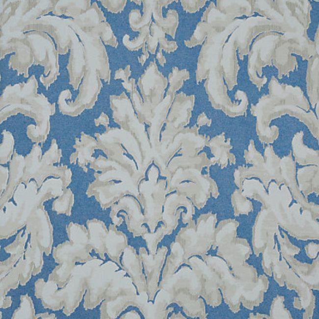 Rouleau De Papier Peint Moderne Et Intisse A Motif Damas Bleu