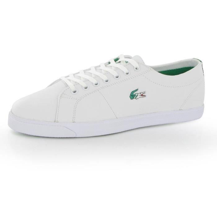 b54d85dced Chaussures Lacoste Marcel USM Le... Blanc Blanc - Achat / Vente ...