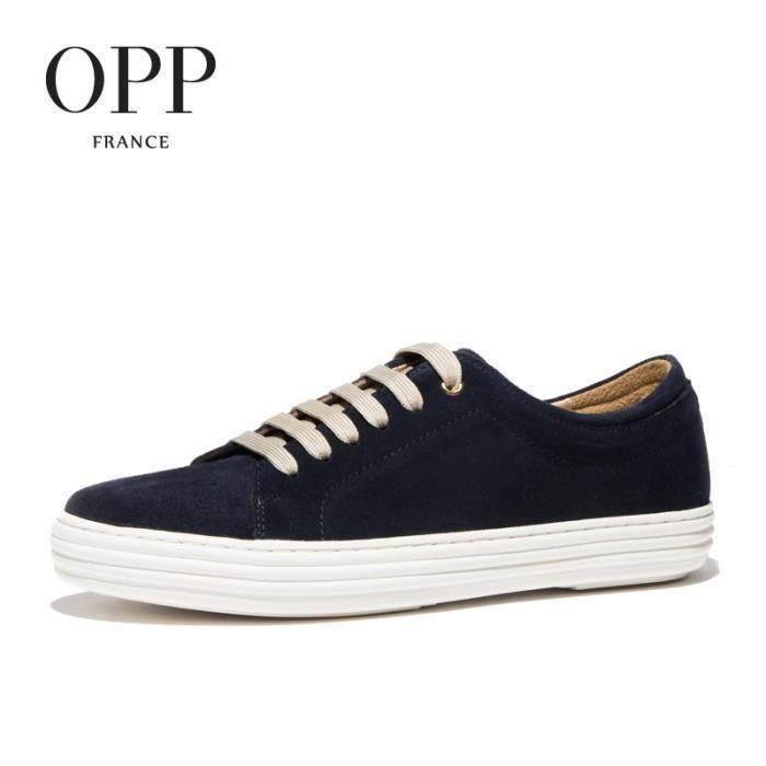 Chaussure Skateshoes OPP Mode Homme Chaussures Bleu taille 42.5 EU X211-1-Bleu
