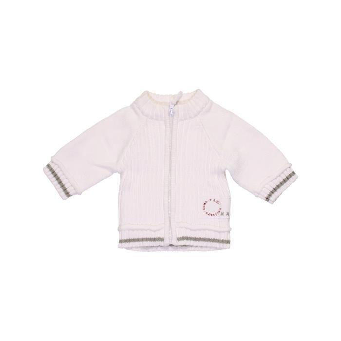 ff0bb65940f6d Gilet bébé garçon TAPE À L OEIL Naissance blanc hiver - vêtement ...