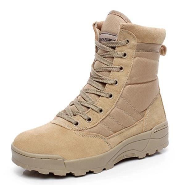Automne et hiver Forces spéciales Bottes de combat Desert Outdoor Boots Tide Martin Bottes hautes-top Chaussures 8Lv5d