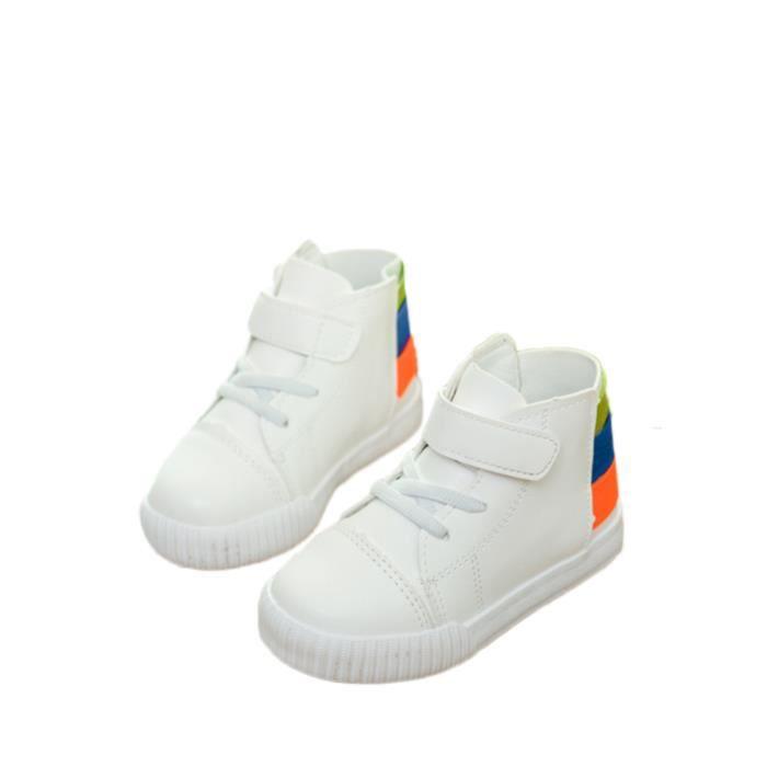 Enfants unisexe court Bottes rondes Toes Velcro Mode Chaussures enfants 2312454