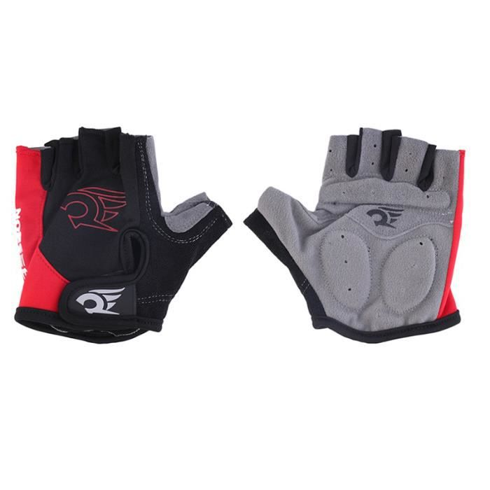 Red Cycling gloves Bicycle motocyclette le gel - doigt gloves Red