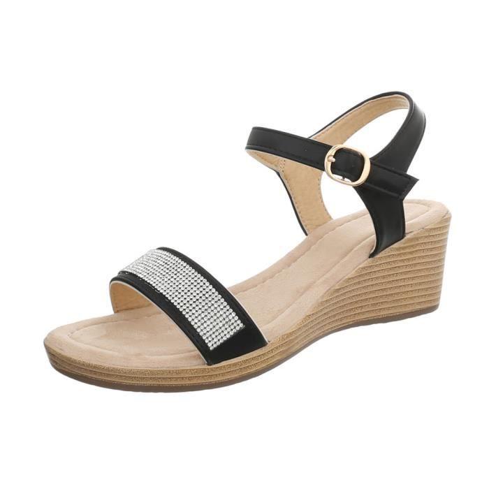 Chaussures Wedges Femmes Compensée Designer Semelle Qpsuzvm Sandales AR35jLq4