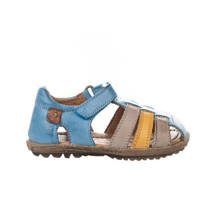 Nu-pieds garçon - NATURINO - Bleu - 9114 - 001-1500699-01 - Millim 23