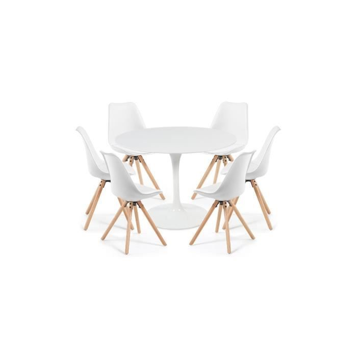 Blanche Table Tulipe Cm6 Chaises Clubber 120 Blanches Laquée wN8PZ0kOXn