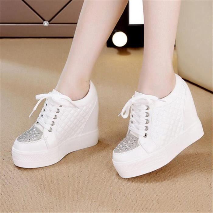 Qualité unie Chaussures femmes hauts élégant Luxe Respirant Talons Confortable cool Antidérapant dentelle couleur Meilleure noir YP4rTP